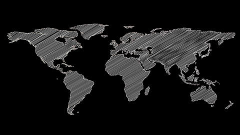 Grey shape of world map Footage