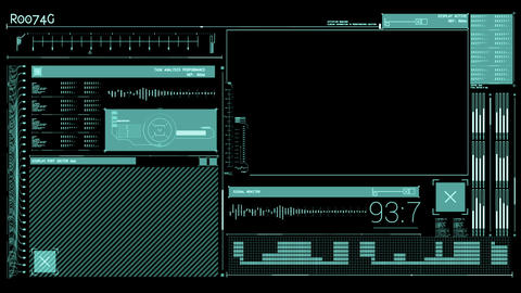 Animation of a tech interface Animation