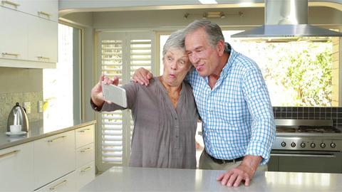 Senior couple taking selfie Footage