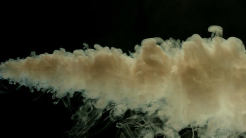 Slow motion billowing dirty smoke Footage