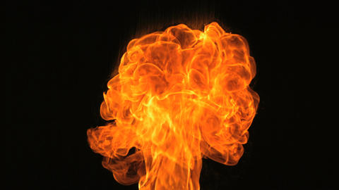 Slow motion fire blaze from the bottom Footage
