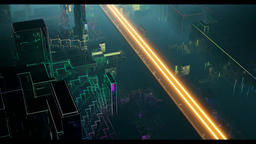 Futuristic loop,The neon lights of the city Animation