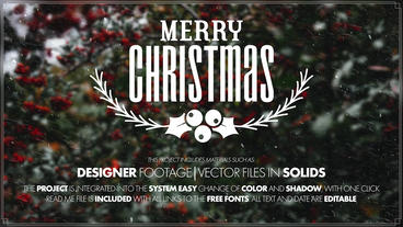 Merry Christmas Titles After Effects Template