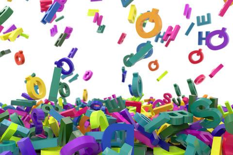 falling letters alphabet Fotografía