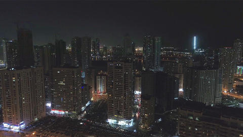 Big city in the evening. Sharjah, UAE ビデオ