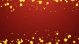 Christmas Winter Gold Background Animation