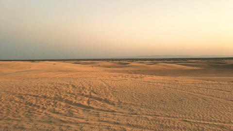 Sunset In African Desert Footage