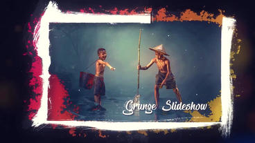 The Grunge Slideshow After Effects Templates