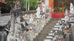 Buddhist temple on the island of Bali Footage