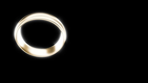 Wedding gold ring on black able to loop seamless Footage