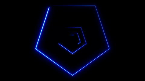 Abstract background with neon polygons フォト