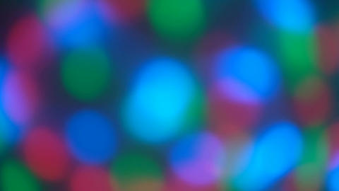 Colorful, blurred, bokeh lights background Live Action
