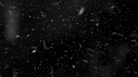 Flying through Blizzard Snow Loop - Medium Shot Pre-render Animation