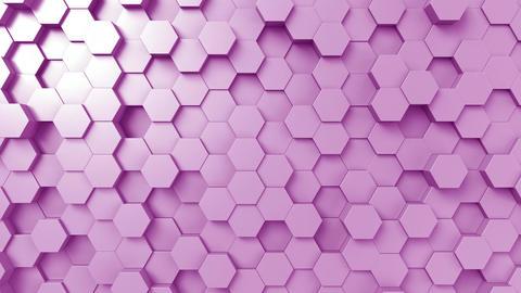 Purple hexagonal motion background, seamless loop Footage