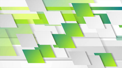 Bright green geometric tech abstract video animation Animation