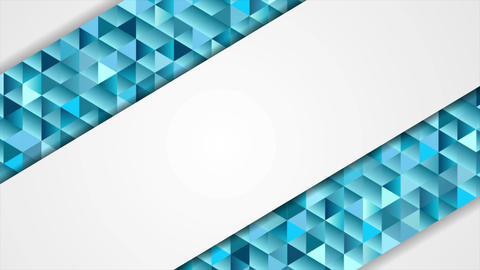 Blue and grey abstract tech low poly mosaic video animation Animation