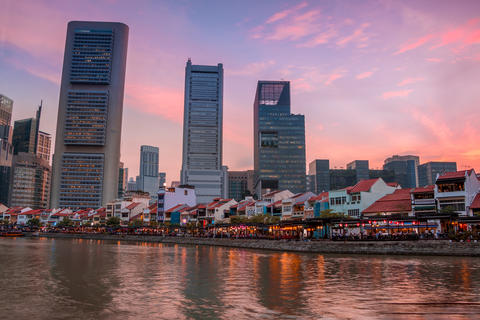 Evening in Chinatown of Singapore フォト