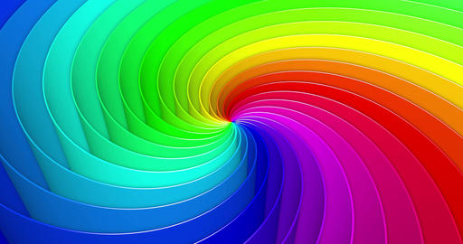 Looped colorful helix background Animation