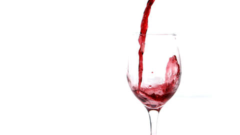 Video of red wine being poured in a glass Footage