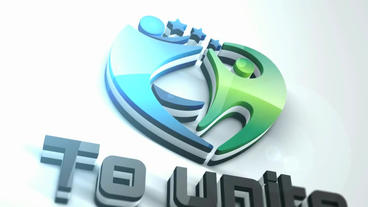 Elegant Extrusion Logo stock footage