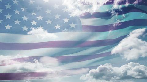 Animation of american waving flag Animation