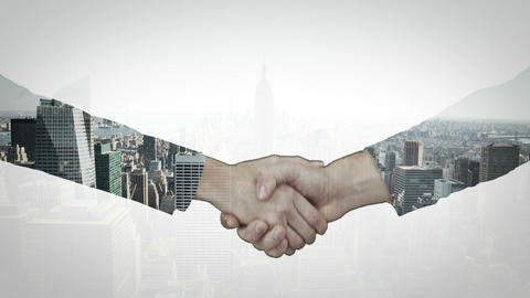 Animation of business people hand shaking Animation