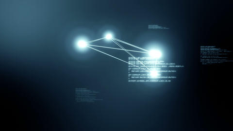 Video of blue light balls Animation