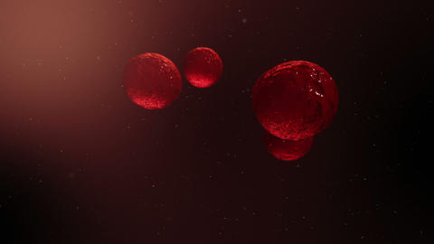 Video of red light balls Animation