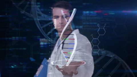 Researcher analyzing dna Footage