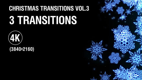 3-in-1 (4K) Christmas Snowflakes Transitions vol.3 - gold 画像