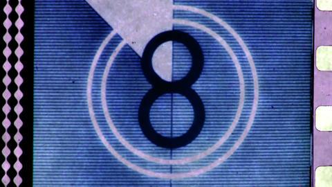 Animation film reel countdown Footage