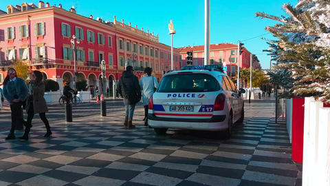 French Police Car in Nice France 画像