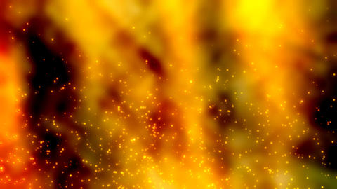 Particles in fire Footage