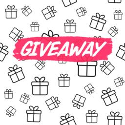 Giveaway card template for blogs Vector