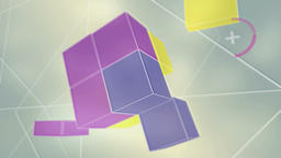 Abstract Background Cube CG動画素材