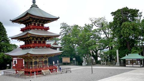 Narita Japan 18.08.2017 Shot of Japanese anicent temple & pagoda ビデオ