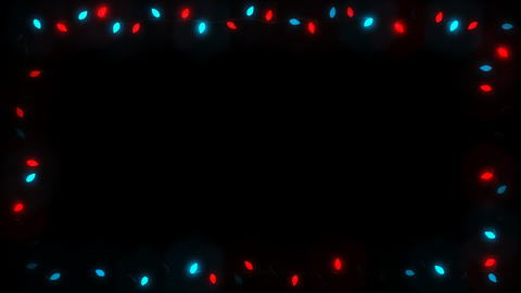 Christsmas Light Frame Garland Bulb - Red Blue Random Slow Animation