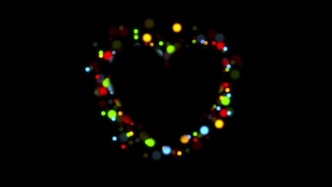 Glowing shiny lights heart video animation Animation