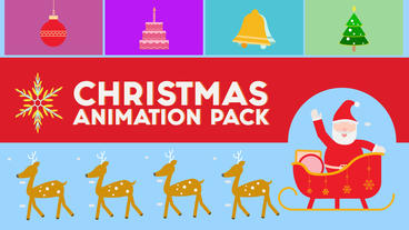 Animated Christmas Icons & Elements Pack After Effects Template