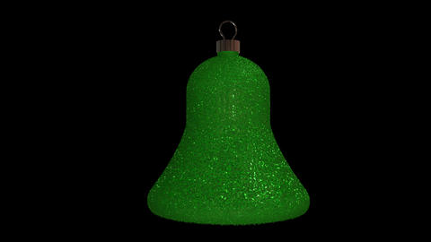 Ornament bell green Animation