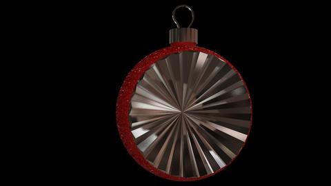 Ornament semi round red Animation