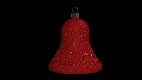 Ornament bell red Animation