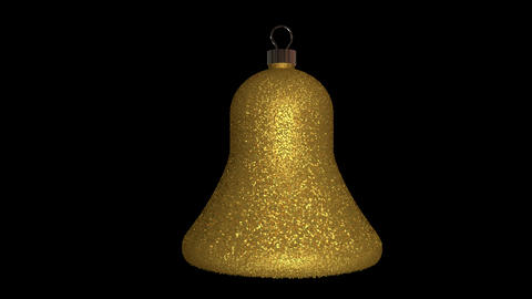 Ornament bell gold Animation