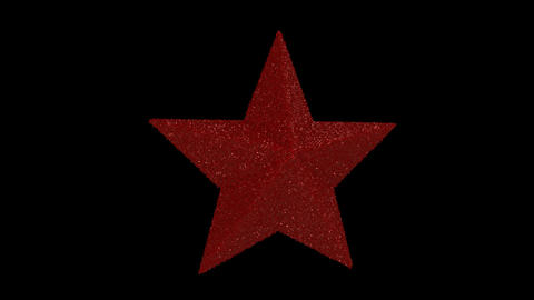 Ornament star red Animation