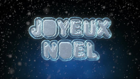 Merry Christmas 3D Text Looping Animation in French Language Footage