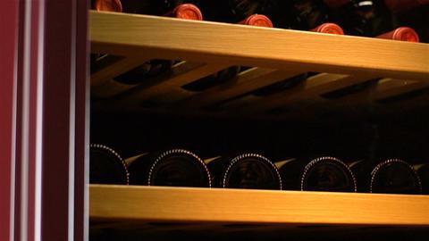 Closeup Chill Box Storing Wine Maintaining Zero Vibration Footage
