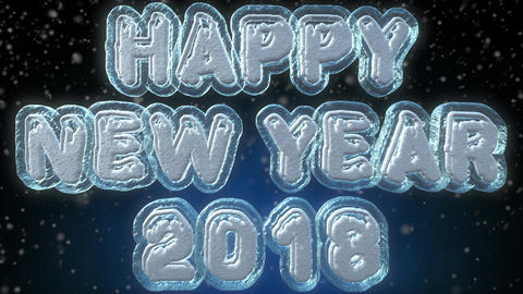 Happy New Year 2018 3D Text Looping Animation Footage