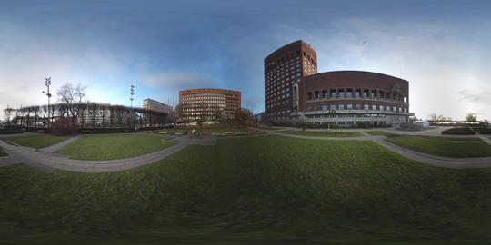 360 VR view of Oslo City Hall and waterfront, Norway VR 360° Video