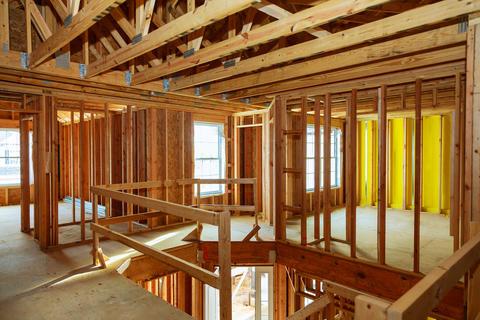 unfinished wood frame building or house Fotografía