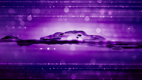 Water Particle-05-Purple Animation